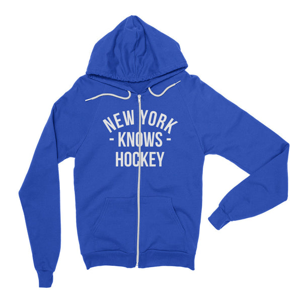 New York Knows Hockey Zip Hoodie (Unisex)