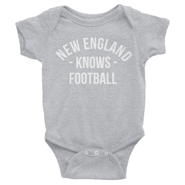 New England Knows Football Baby Onesie