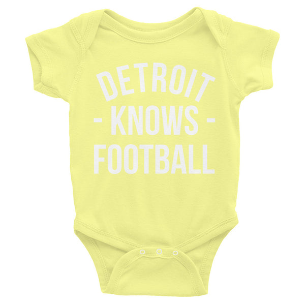 Detroit Knows Football Baby Onesie