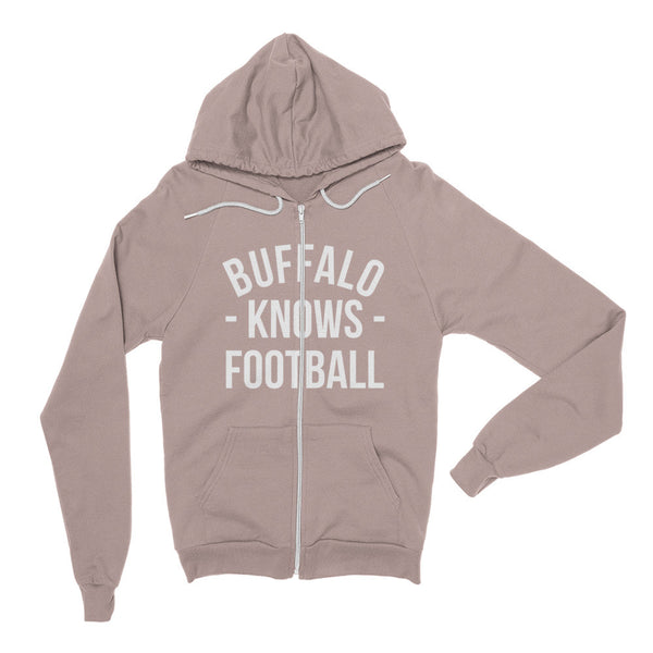 Buffalo Knows Football Zip Hoodie (Unisex)