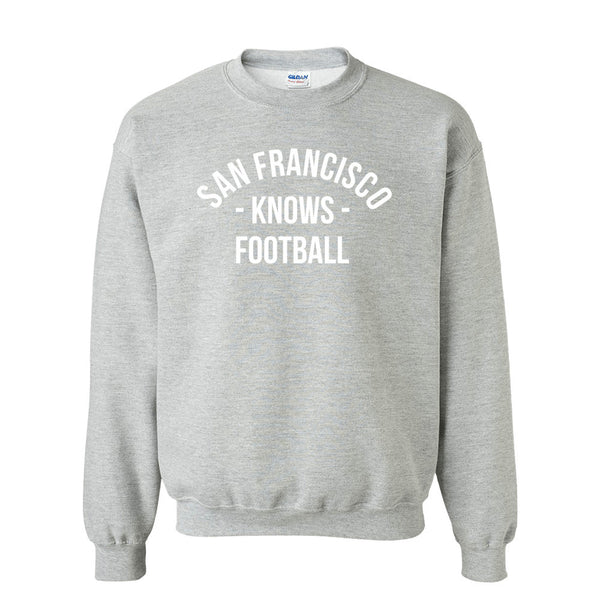 San Francisco Knows Football Sweater (Unisex)