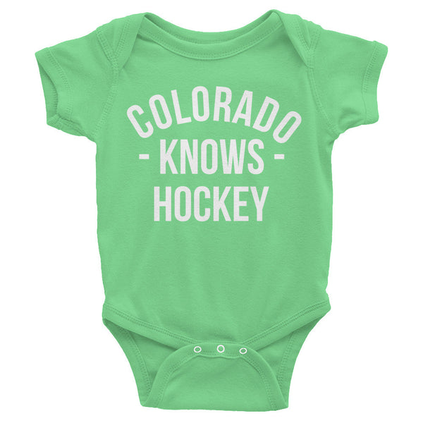 Colorado Knows Hockey Baby Onesie