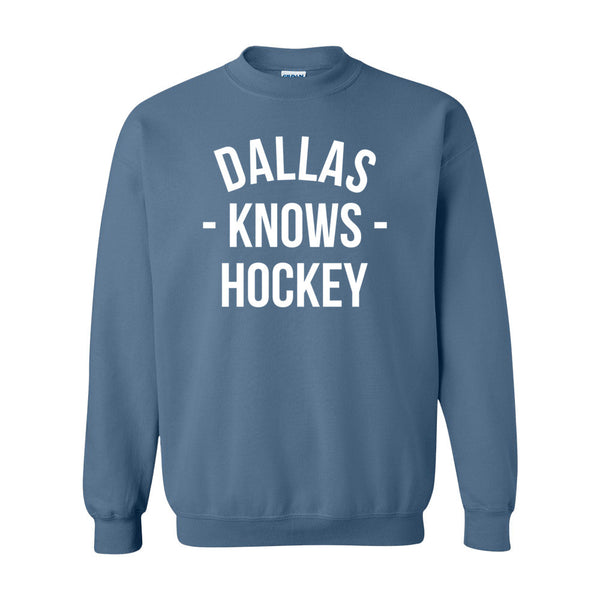 Dallas Knows Hockey Sweater (Unisex)