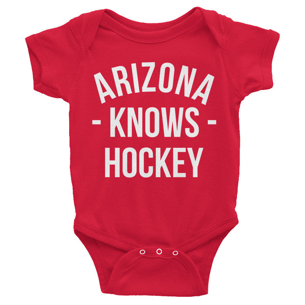 Arizona Knows Hockey Baby Onesie