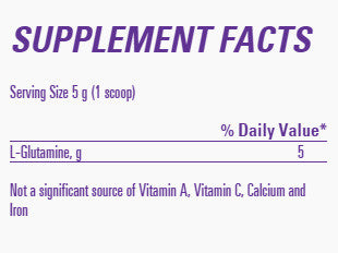 EAS Myo Glutamine Facts