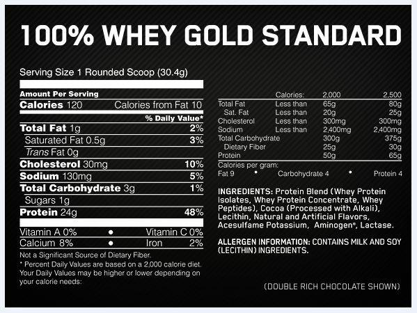 Optimum Nutrition 100% Whey Protein 10Lb