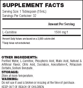 API Liquid L-Carnitine Facts