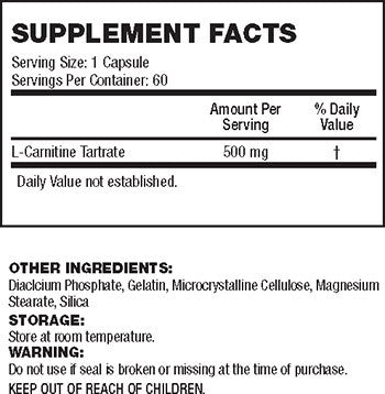 API L-Carnitine 60 Caps Facts