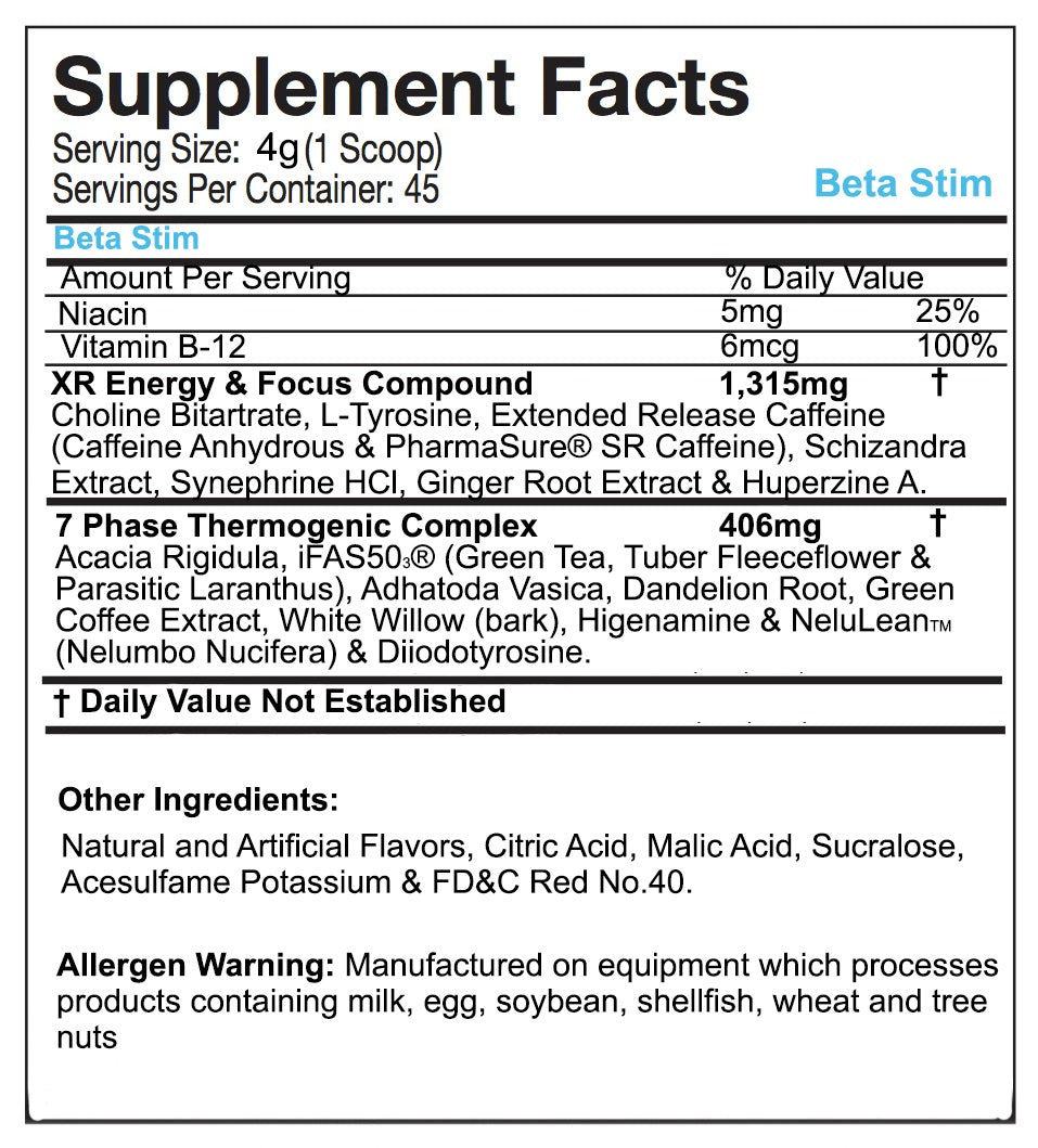 Ronnie Coleman Beta Stim Facts Top Dog Nutrition