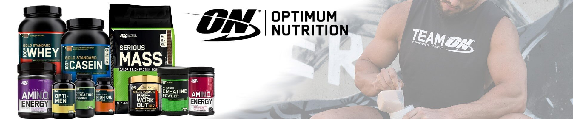 Optimum Nutrition Whey Protein & Amino Energy Supplements