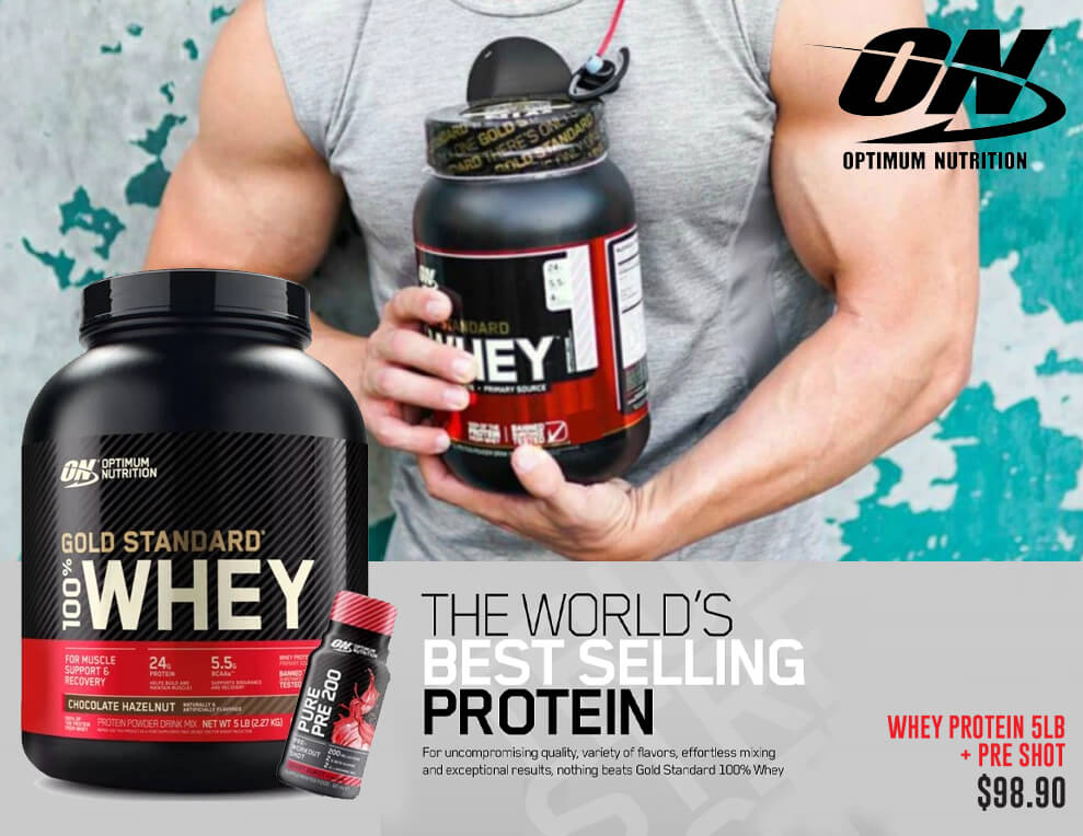 Optimum Nutrition Whey Protein & Pre Workout Shot