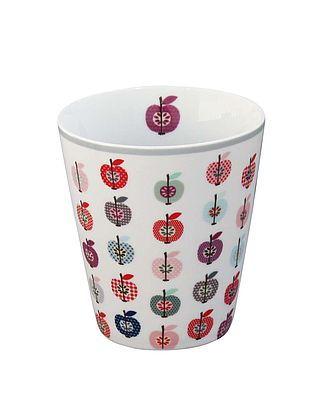Becher Apple Plum - Happy Mug mit buntem Apfel-Retromuster