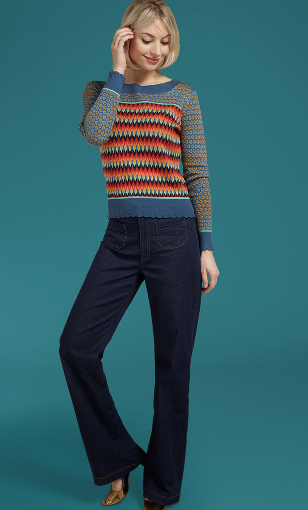 Pullover Audrey Top Sound Blue King Louie