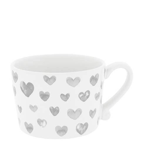 Becher Herz in Wasserfarben grau - mit Henkel - Mug Heart in Watercolor grey