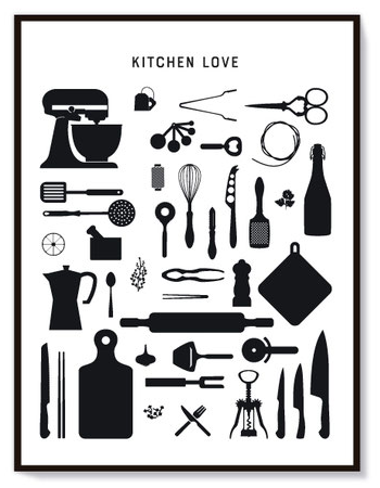 Poster *Kitchen Love - klein 30 x 40