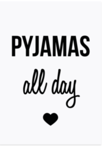"Postkarte ""Pyjamas all day"""