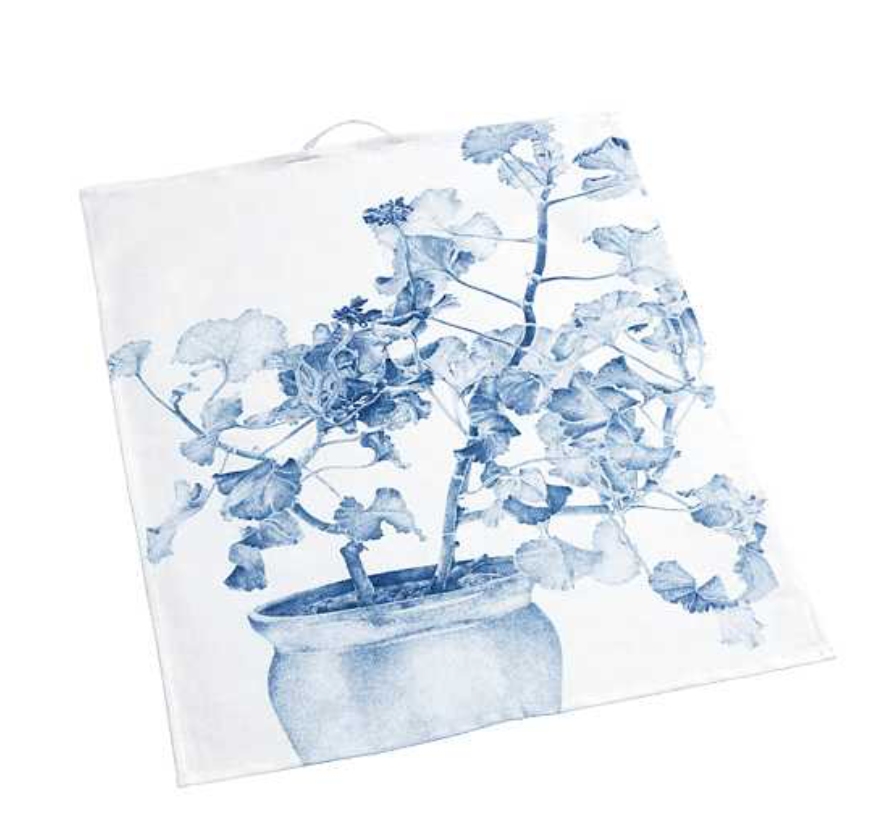 Geschirrhandtuch Geranie blau - Kitchen Towel Green Geranium