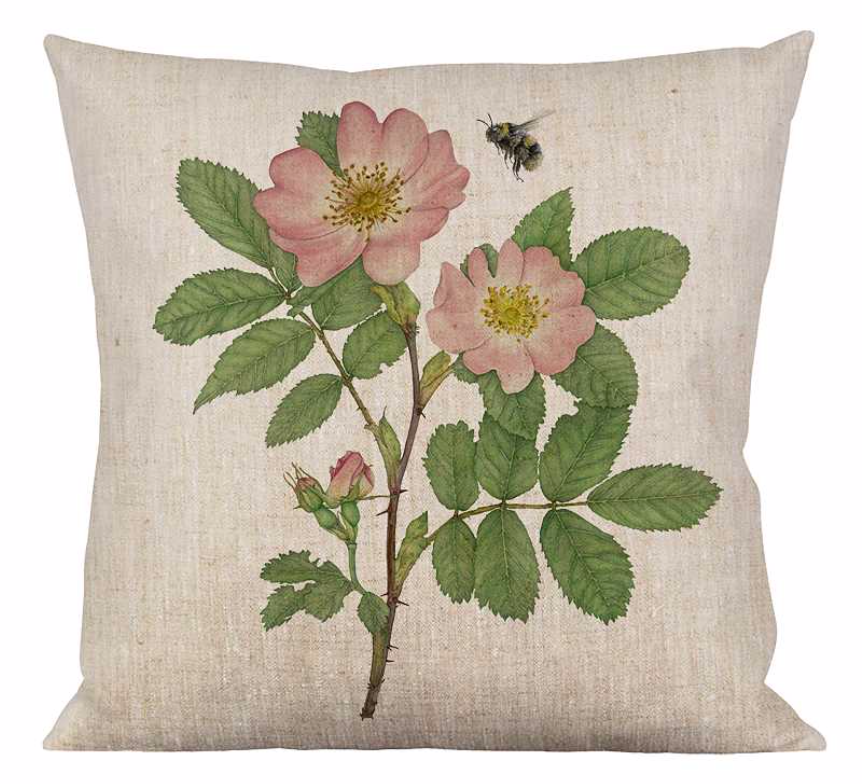 Kissenhülle Rose | Biene - Cushion Rose | Bumble Bee