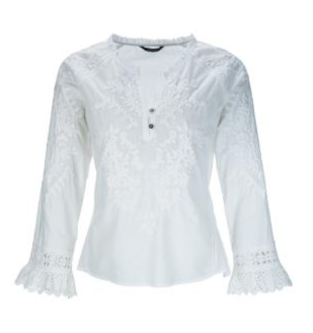 Bluse Spitze White Embriodery Tunic weiss - Princess goes to Hollywood
