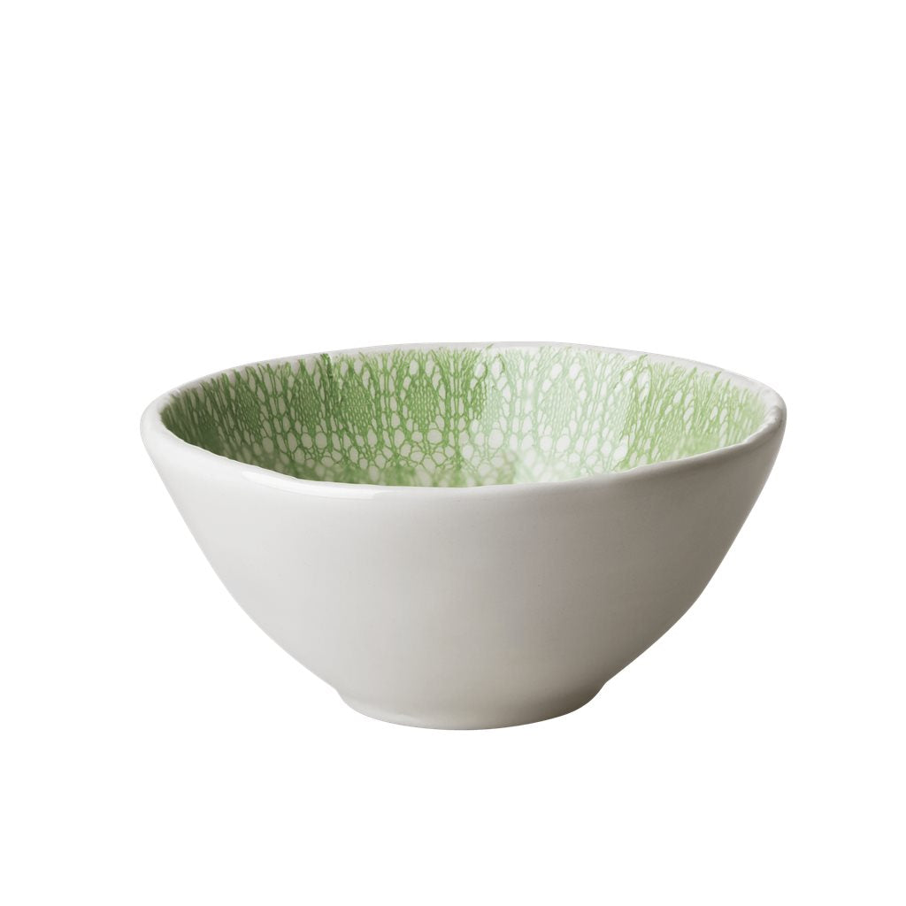 Schüssel Ceramic Bowl Green Embossing - Pastell Green