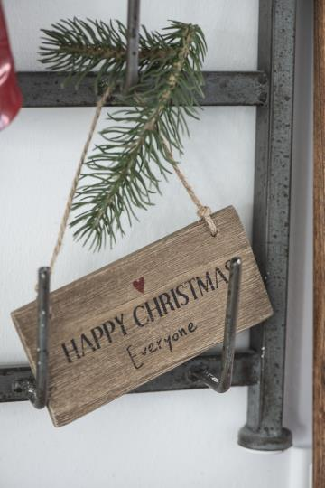 "Holzschild ""Merry Christmas..."
