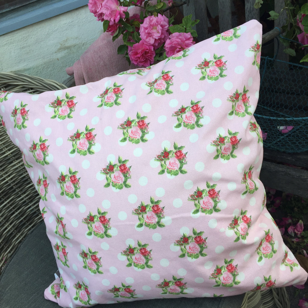 Kissenhülle Punkte und Rosen, Cushion over - Dotsˋn Roses