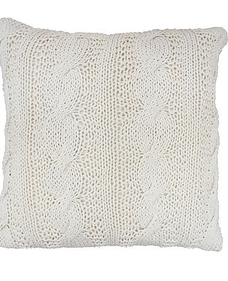 Kissenhülle Strick Vanille - Cushion Cover knitted Vanilla