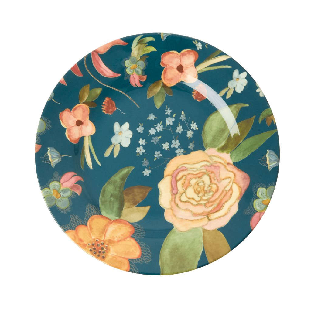 Teller Melamine Side Platz with Selma's Fall Flower Print