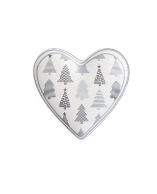 Teller Herz mini Tanne grau - Tray Mini Christmas Tree Krasilnikoff
