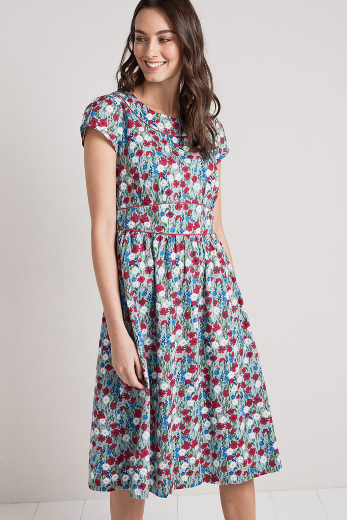 Kleid Briarfield Dress-Wild Meadow Eggshell