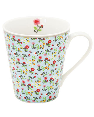 Becher mit Henkel - geblümt hellblau - Mille fleurs Mug with Handle