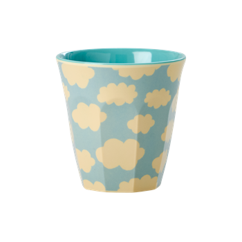 Becher für Kinder Wolkenprint - Melamine Kids Cup Cloud Blue
