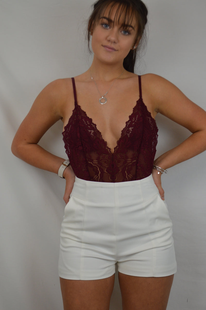 Lovers Tiff Bodysuit - Wine