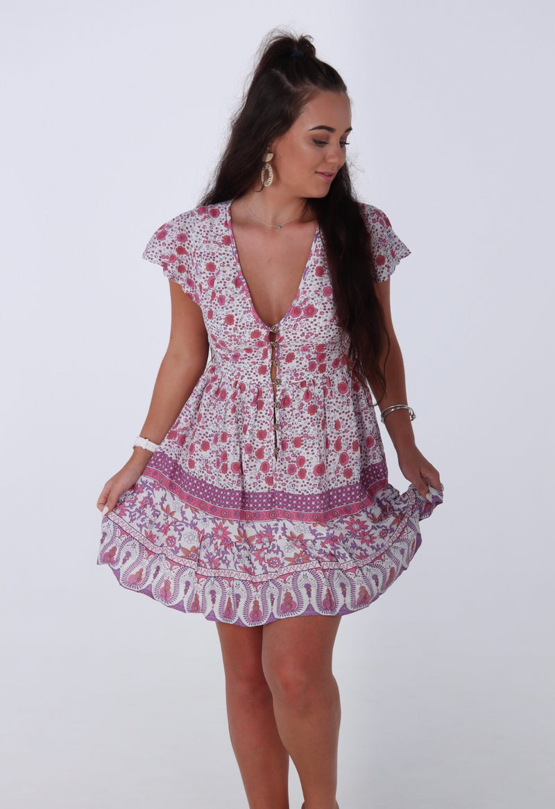 I'm About You Dress - Pink Floral