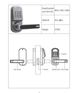 Z-Wave Keypad Lock (Right)