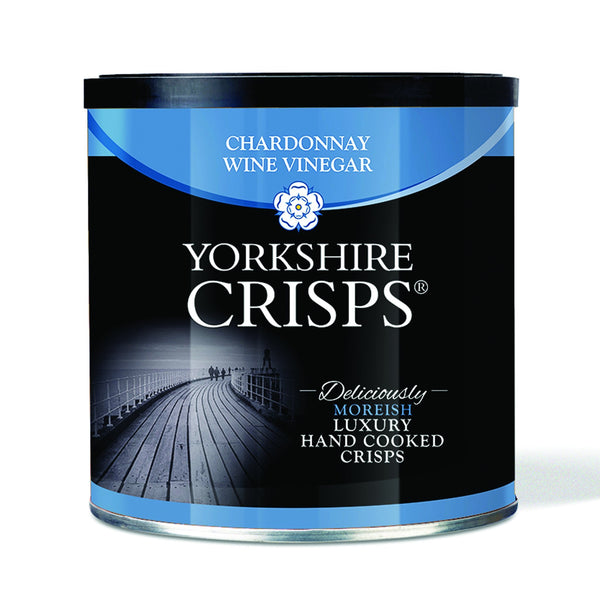 Yorkshire Crisps - Chardonnay Wine Vinegar 50g drums - Snack Revolution