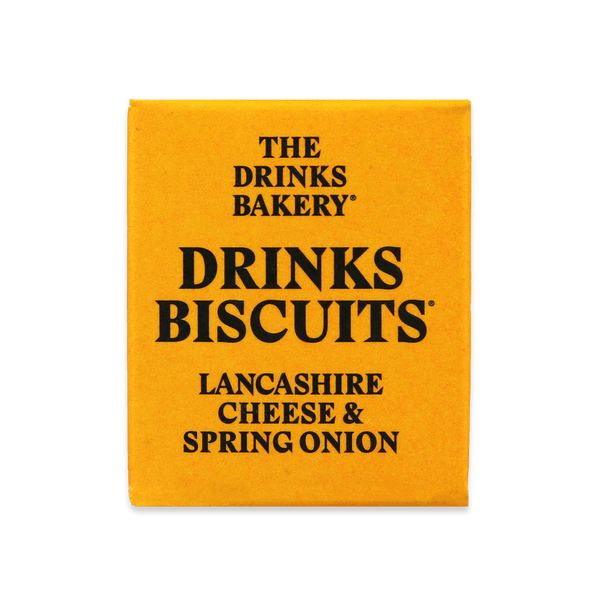 THE DRINKS BAKERY BISCUITS - Lancashire Cheese & Spring Onion Biscuits - 3x8 SRP 20g packs - Snack Revolution