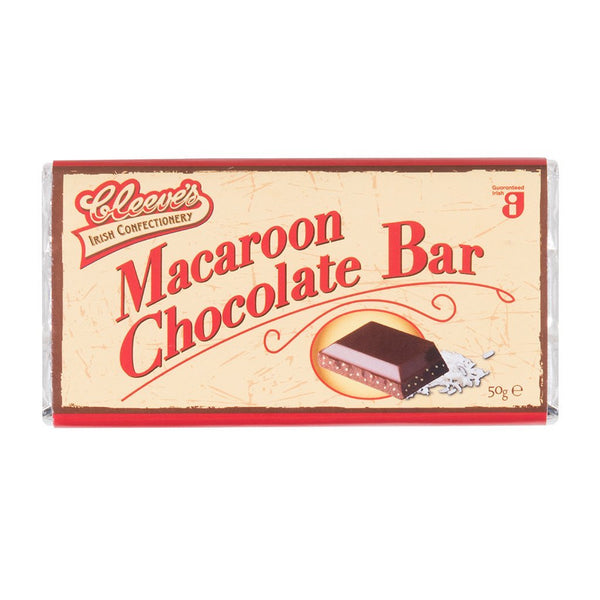 Cleeves Traditional Pub Chocolate - Macaroon Bar - Snack Revolution