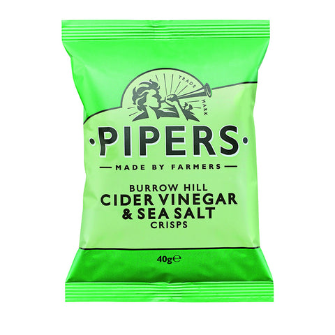 Pipers - Burrow Hill Cider Vinegar & Sea Salt (Value 40 pack Case)