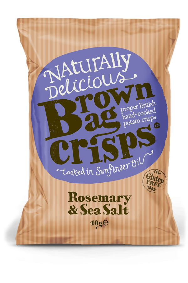 Brown Bag Crisps - Rosemary and Sea Salt - Snack Revolution