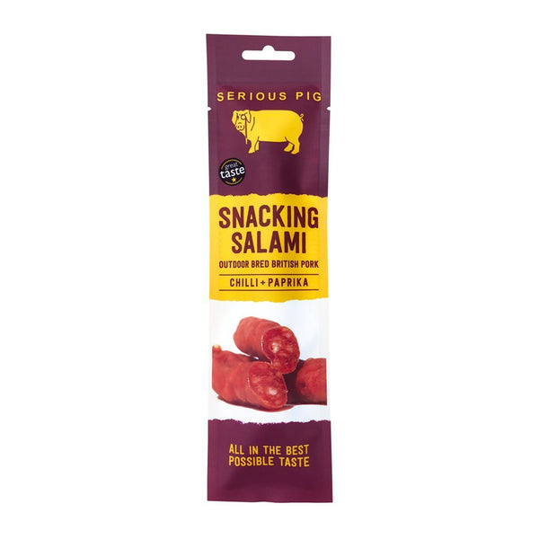 Serious Pig - Snacking Salamis Chilli & Paprika - NEW - Snack Revolution