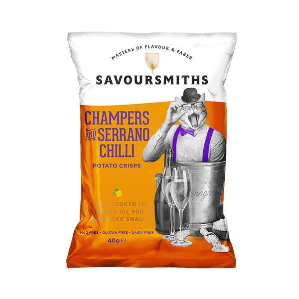 Savoursmiths Champers & Serrano Chilli - Snack Revolution
