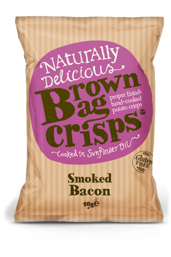Brown Bag Crisps - Smoked Bacon - Snack Revolution