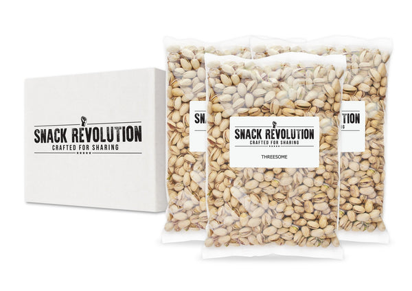 BULK NUTS - THREESOME - Portobello Sea Salt Pistachios - BUY 1 GET 1 FREE!! - Snack Revolution