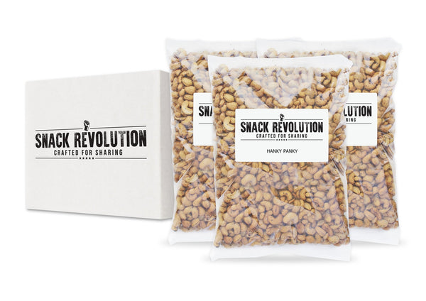 BULK NUTS - HANKY PANKY (NEW)- King's Cross Cracked BBQ Cashews - Snack Revolution