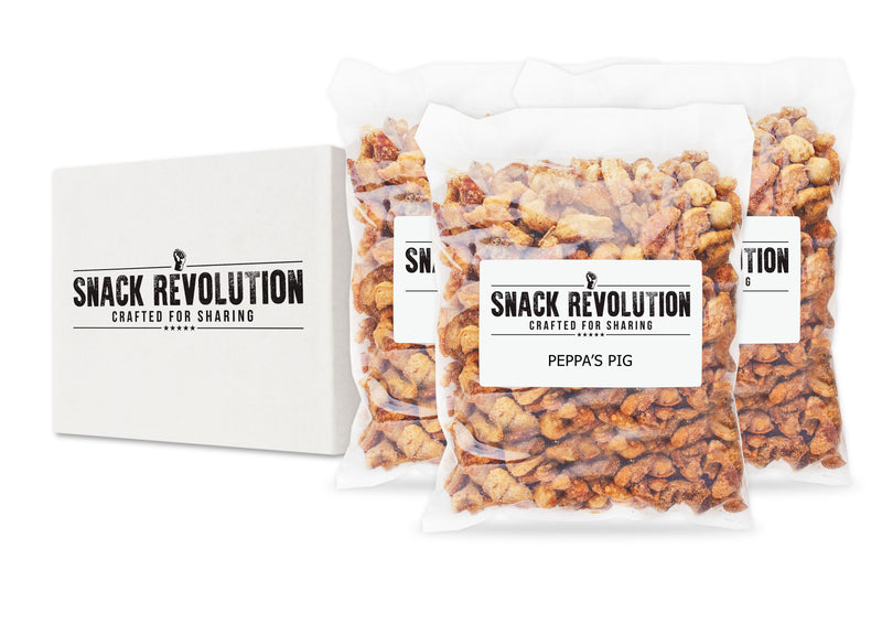 PUB ORIGINAL PORK CRACKLING - PEPPA's PIG - Premium Sea Salted Pork Crackling - Snack Revolution