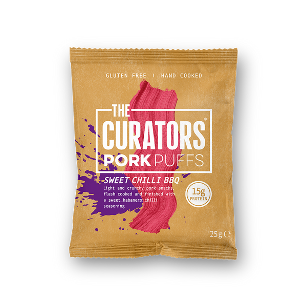 The Curators - Spicy BBQ Pork Puffs - NEW 40 Pack - Snack Revolution