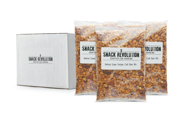 BULK NUTS - HOPPY HOUSE - Bethnal Green Smoky Craft Beer Mix (Almonds, Cashews & Peanuts) - Snack Revolution