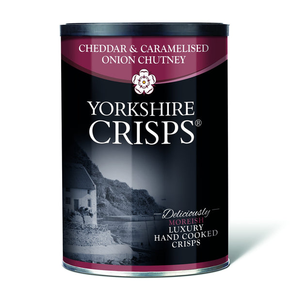 Yorkshire Crisps - Cheddar & Onion 100g drums - Snack Revolution