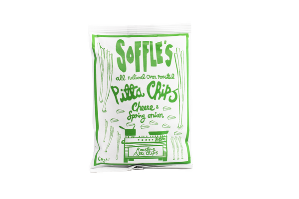 Soffles - Cheese and Spring Onion Pitta Chips - ZERO VAT - Snack Revolution
